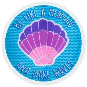 Be Like A Mermaid Round Fringe Beach Towel